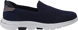 Skechers GoWalk 5 - Prized, Tênis Slip-On, Feminino, Azul (Marine), 36