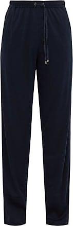 Zimmerli Drawstring Cotton-blend Jersey Track Pants - Mens - Navy