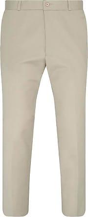 Relco Mens Sta-Press Mod Trousers Khaki 34