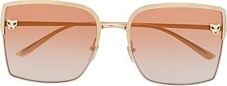 Cartier Óculos de sol oversized Panthère - Dourado