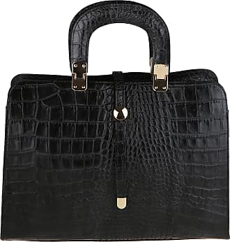 Chicca Borse Woman Handbag with Shoulder Strap in Genuine Leather Made in Italy Python Pattern 37x26x14 Cm