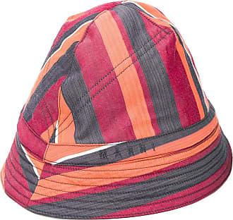 Marni striped bucket hat - ORANGE