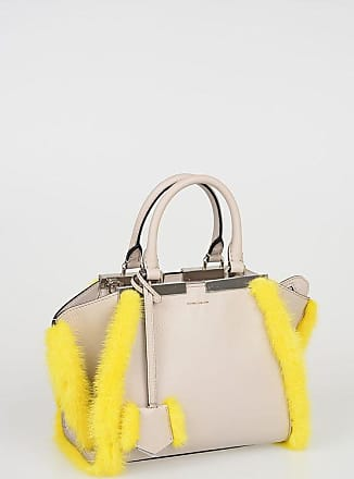 Fendi Leather MINI 3 JOURS Tote Bag with Fur Mink Details size Unica