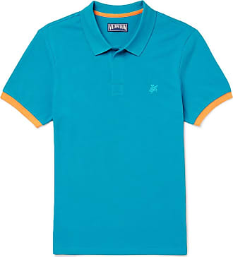Vilebrequin Palatin Contrast-tipped Cotton-piqué Polo Shirt - Blue
