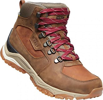 Keen Womens Innate Leather Mid WP Scarpe da trekking Donna | marrone/beige