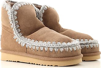 Mou Boots for Women, Booties On Sale, Leather Brown, Suede leather, 2017, EUR 38 - UK 5 - USA 7.5