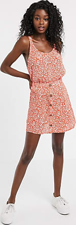 Urban Bliss button skirt in palm print co-ord-Orange