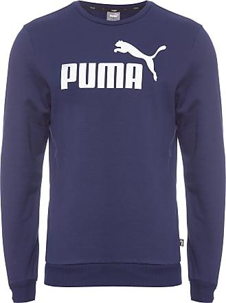 Puma BLUSA MASCULINA MOLETOM LOGO CREW SWEAT - AZUL