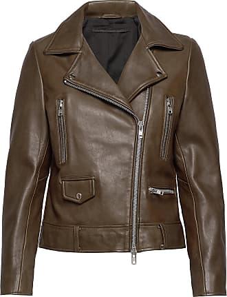 MDK Frida Vegetal Leather Jacket Läderjacka Skinnjacka Brun MDK / Munderingskompagniet