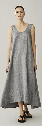 Asceno Capri Charcoal Linen Dress