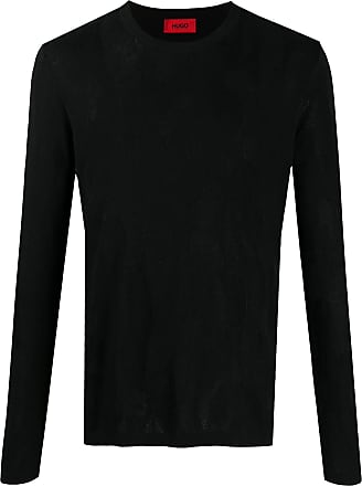 HUGO BOSS Suéter decote careca de tricô - Preto