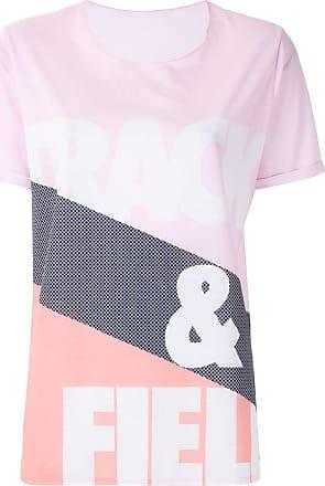 Track & Field T-shirt listras com logo - Estampado