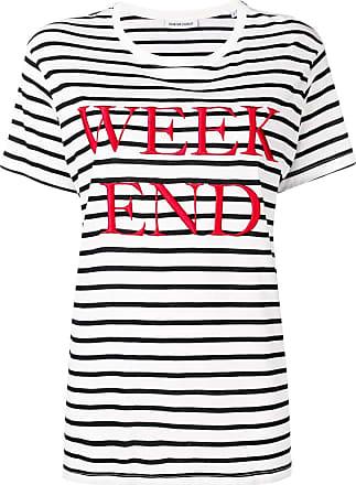 Quantum Courage Camiseta listrada Week End - Preto