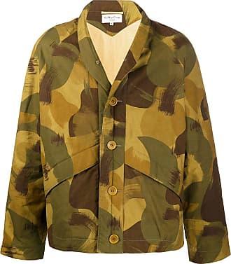 Ymc You Must Create Jaqueta oversized com estampa camuflada - Verde