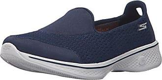 Bleu (NavyGrey) Skechers Go Walk 4, Scarpe Running Donna