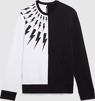 Neil Barrett Half Fair-isle Thunderbolt Lightweight Sweatshirt