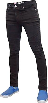 True Face Men TF Biker SPR Skinny Jeans Black 36R