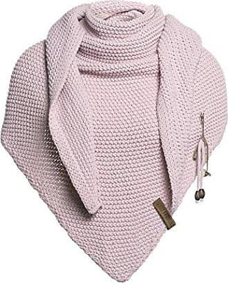 M/ütze beige Knit Factory XXL Dreieckstuch Schal Umh/ängetuch Modell Coco M/ütze Beanie Strickschal 190x85 cm