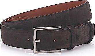 Santoni Men´s belt suede brown