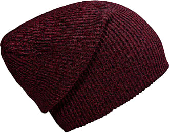 DonDon winter hat for Women and Men Slouch beanie warm classical design Red - Black