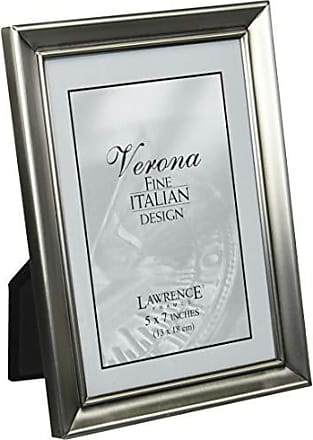 Lawrence Frames Brushed Pewter 5 by 7 Metal Picture Frame