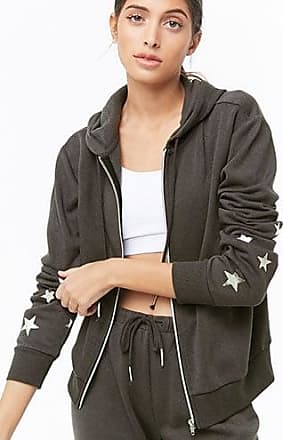 Forever 21 Forever 21 Active Hooded Star Graphic Jacket Charcoal/silver