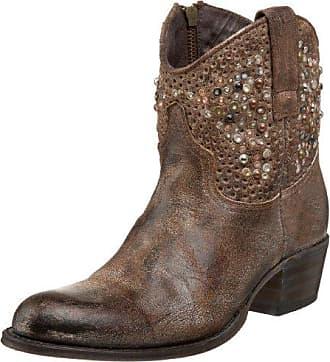 Frye Womens Deborah Studded Ankle Boot, Brown, 5.5 M US