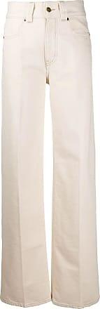 Victoria Beckham Jeans con cintura alta en algodón crudo