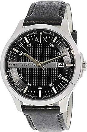 A|X Armani Exchange Mens AX2101 Black Leather Japanese Quartz Dress Watch