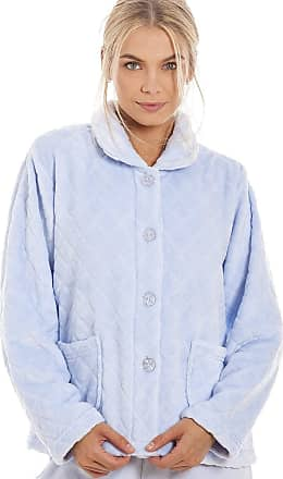 Camille Womens Soft Button and Zip Bed Jackets and Designs 22/24 Diamond Blue