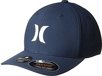 pretty nice 78db0 b4faf Hurley Mens Dri-Fit One   Only Flexfit Baseball Cap, Obsidian White L