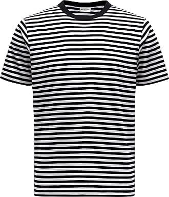 Dries Van Noten R-Neck T-Shirt schwarz/weiß gestreift