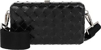 Bottega Veneta Cross Body Bags - Men Woven Messenger Bag Leather Black - black - Cross Body Bags for ladies