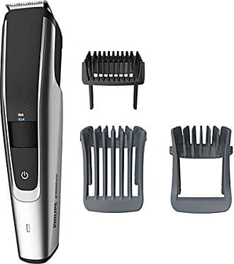 Philips Beard Trimmer Series 5000, BT5511/49, electric, cordless, one pass beard and stubble trimmer with washable feature for easy clean, Black and Silver