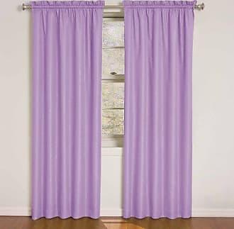 Ellery Homestyles Eclipse Kids 12429042X084PUR Wave 42-Inch by 84-Inch Room Darkening Single Window Curtain Panel, Purple