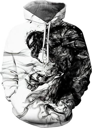 EUDOLAH Mens Hoodie Animal Pattern with 3D Print Design Halloween Costume Christmas Hoodie Long Sleeve(UK 14-16 (Tag 2XL),Venom 146)