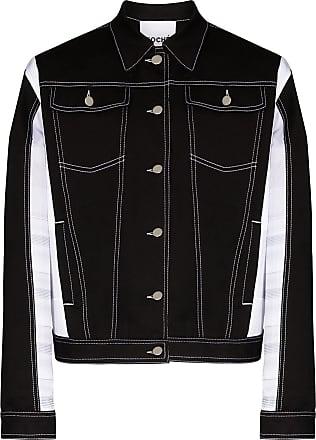Koché Jaqueta jeans bicolor - Preto