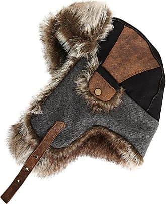 Hats & Caps Ladies Brown Mix Luxury Faux Fur Trapper Cap with Micro Suede in sizes 58cm or 59cm