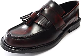 Ikon SELECTA Mens MOD Skinhead Polished All Leather Tassle Loafers Oxblood Red UK 11 = EU 45