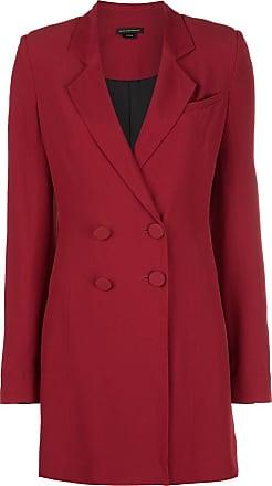 Kiki De Montparnasse tuxedo mini dress - Red