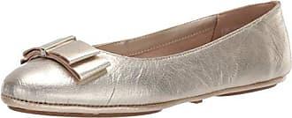 Aerosoles Womens Conversation Ballet Flat, Gold Leather 5 M US