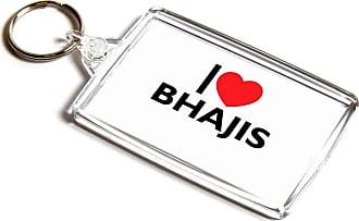 ILoveGifts KEYRING - I Love Bhajis - Novelty Food & Drink Gift