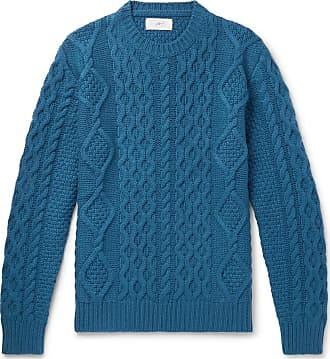Mr P. Cable-knit Merino Wool And Cashmere-blend Sweater - Teal