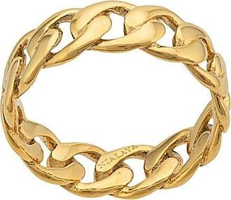 Nialaya round chain ring - GOLD
