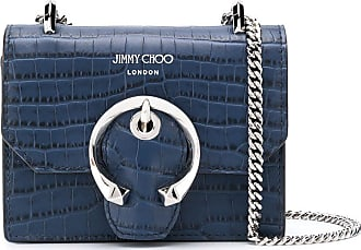 Jimmy Choo London mini Paris leather crossbody bag - Azul