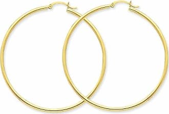 Quality Gold 14kt Yellow Gold Lightweight Tube Hoop Earrings