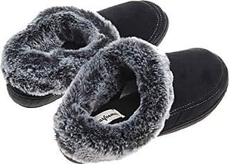 Damen Sherpa-Fleece Pantoffeln Gestreift Hausschuhe Größen Eu 37-41