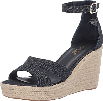 Lauren Ralph Lauren Lauren by Ralph Lauren Womens HALDA II Espadrille Wedge Sandal, Denim, 6 UK