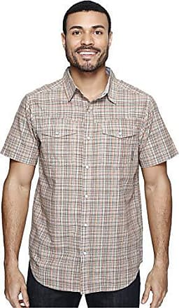 Columbia Mens Leadville Ridge Short-Sleeve Shirt, Valencia Plaid, Small