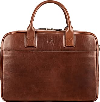 Maxwell Scott Maxwell Scott - Luxury Italian Tan Leather Business Bag for MacBook
